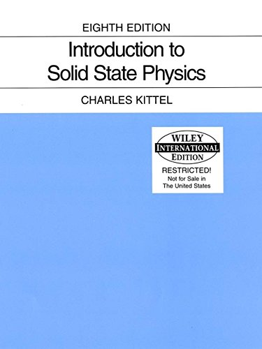 9780471680574: WIE Introduction to Solid State Physics, 8th Edition, International Edition