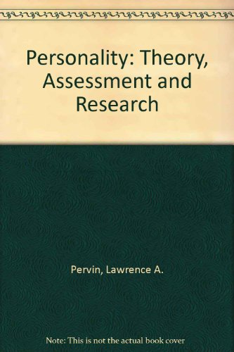 9780471682264: Personality: Theory, Assessment and Research