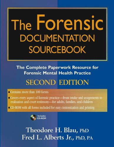 9780471682882: The Forensic Documentation Sourcebook: The Complete Paperwork Resource for Forensic Mental Health Practice
