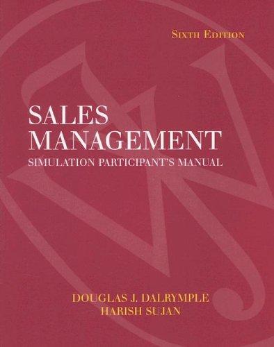 9780471683872: Sales Management Simulation Participants Manual