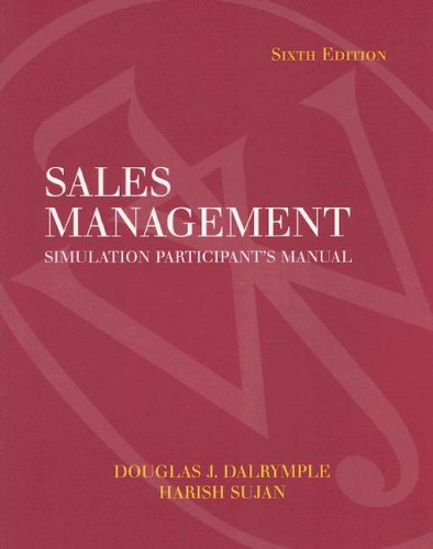9780471683872: Sales Management Simulation Participant's Manual