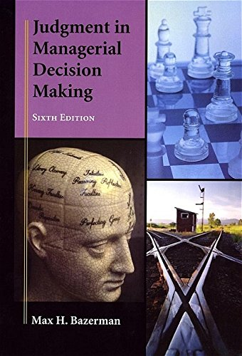 9780471684305: Judgment in Managerial Decision Making