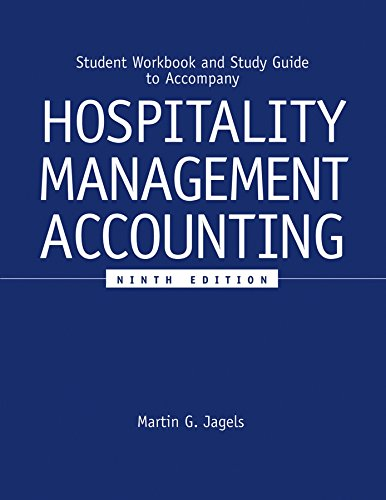 9780471689263: Student Workbook and Study Guide to accompany Hospitality Management Accounting, 9e