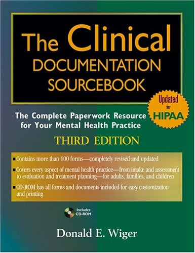 9780471689317: The Clinical Documentation Sourcebook: The Complete Paperwork Resource for Your Mental Health Practice