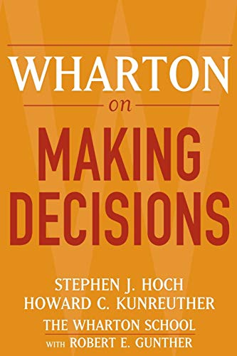 9780471689386: Wharton on Making Decisions