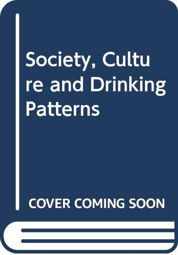 9780471691020: Society, Culture and Drinking Patterns