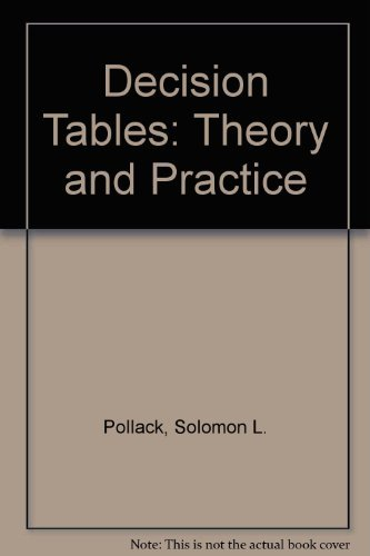 9780471691495: Decision Tables: Theory and Practice
