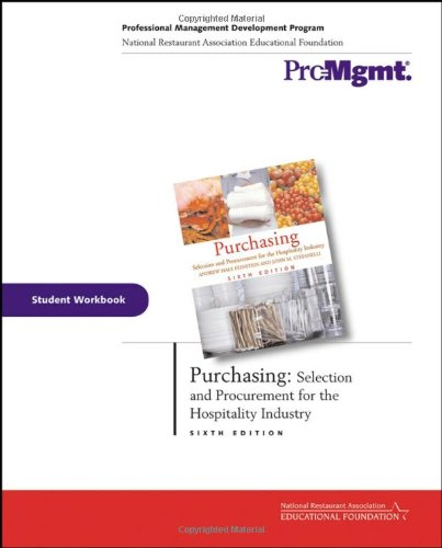 Purchasing, Student Workbook: Selection and Procurement for: Andrew H. Feinstein,