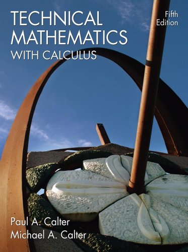 9780471695929: Technical Mathematics with Calculus