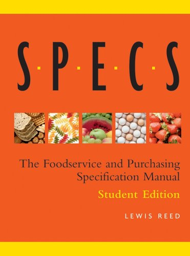 9780471696957: Specs: The Foodservice and Purchasing Specification Manual