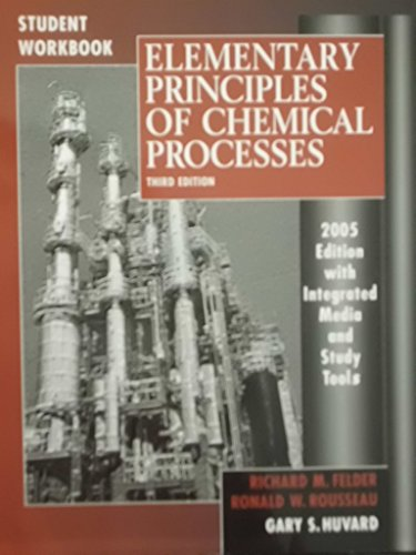 9780471697596: Elementary Principles Of Chemical Processes