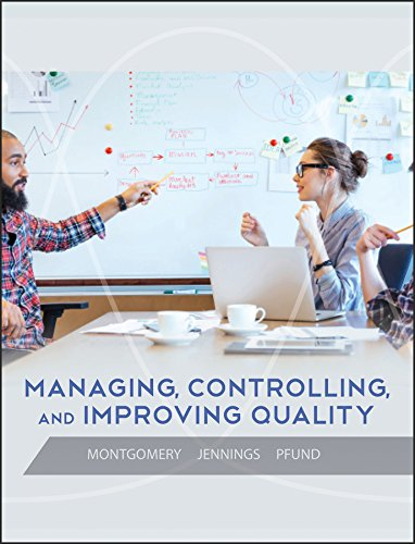 9780471697916: Managing, Controlling, and Improving Quality