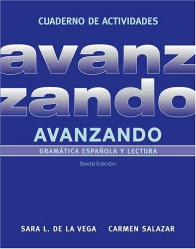 9780471700128: Avanzando, Workbook: Gramática española y lectura