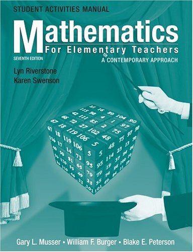 9780471701194: Student Activities Manual to accompany Mathematics for Elementary Teachers: A Contemporary Approach, 7th Edition