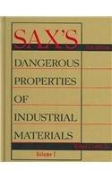 9780471701330: Sax's Dangerous Properties of Industrial Materials 11e, 3 Volume Print and CD-ROM Set (Dangerous Properties of Ind Materials)