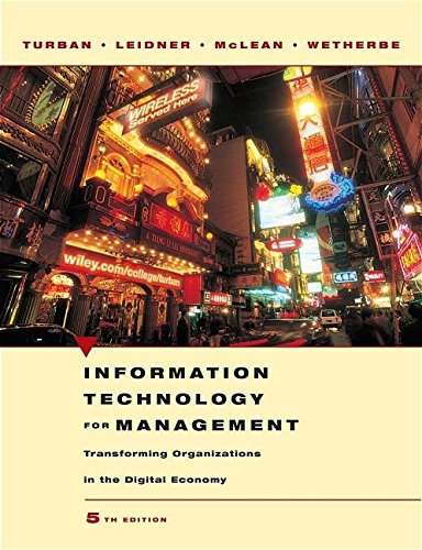 9780471705222: Information Technology for Management: Transforming Organizations in the Digital Economy