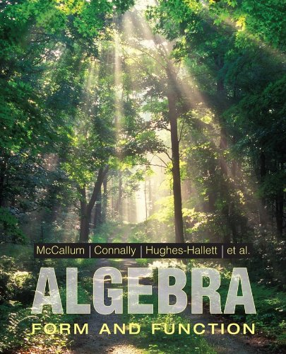 9780471707080: Algebra: Form and Function