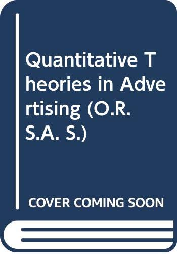 Quantitative Theories in Advertising (O.R.S.A.): Rao, Ambar Gopal