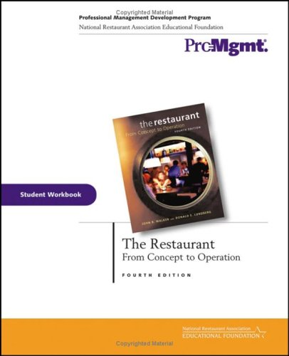9780471708674: The Restaurant, Student Workbook: From Concept to Operation
