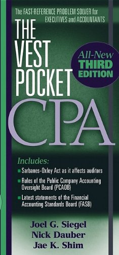 The Vest Pocket CPA (0471708755) by Joel G. Siegel; Nick A. Dauber; Jae K. Shim