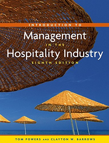 9780471708780: Introduction to Management in the Hospitality Industry, Eighth Edition and NRAEF Student Workbook Package