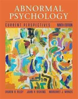 9780471710158: (WCS)Abnormal Psychology 9th Edition for University of Iowa
