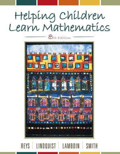 Helping Children Learn Mathematics 9780471710950 The new eighth edition of this successful book presents the tools to help children learn mathematical concepts and skills while utilizing important problem-solving techniques. In the process, it challenges the readers and further stimulates their interest in mathematics. The book is built around three main themes: helping children make sense of mathematics, incorporating field-experiences, and emphasizing major ideas detailed in the National Council of Teachers of Mathematics Principles and Standards for School Mathematics.