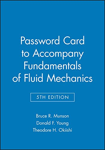 9780471712510: Password Card to accompany Fundamentals of Fluid Mechanics