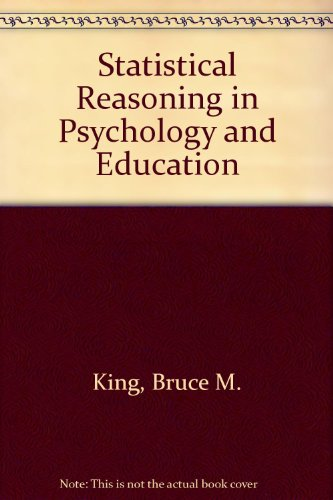 9780471712596: Statistical Reasoning in Psychology and Education