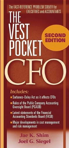 9780471715719: The Vest Pocket CFO