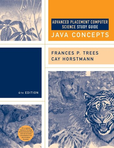 9780471718611: Advanced Placement Study Guide to accompany Cay Horstmann's Java Concepts