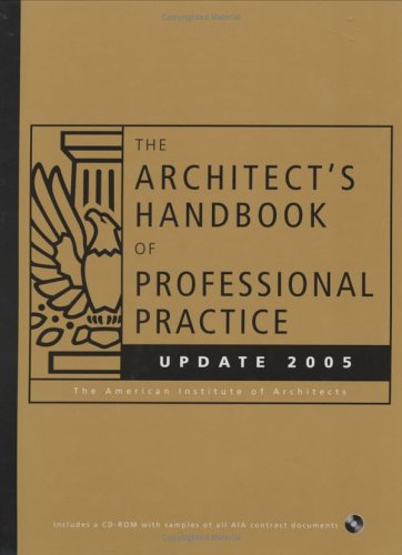 9780471719373: The Architect's Handbook of Professional Practice Update 2005 (Architect's Handbook of Professional Practice Update (W/CD))