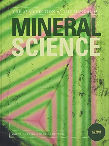 9780471721574: Manual of Mineral Science