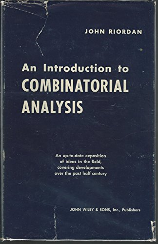 9780471722700: Introduction to Combinatorial Analysis