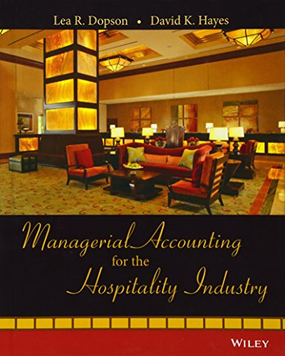9780471723370: Managerial Accounting for the Hospitality Industry