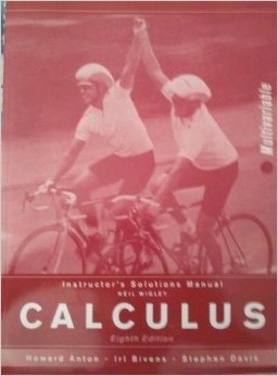 9780471724292: Instructor's Solutions Manual Calculus Multivariable Eighth Edition