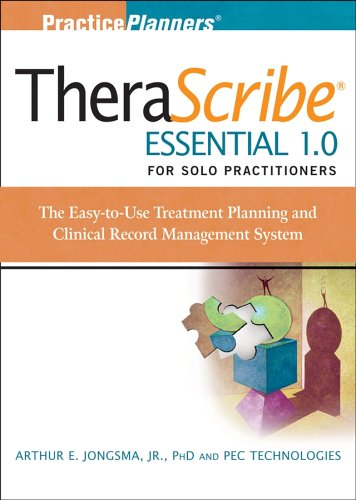 9780471726272: Therascribe Essential 1.0 for Solo Practitioners: The Treatment Planning and Clinical Record Management System + The Complete Adult Psychotherapy Treatment Planner Module