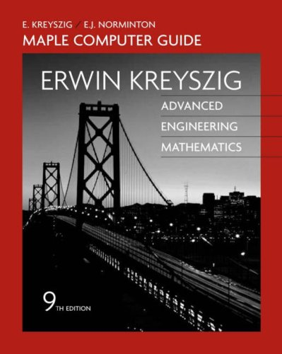 9780471726456: Advanced Engineering Mathematics, A Self-Contained Introduction (Maple Computer Guide)