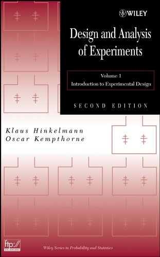 9780471727569: Design and Analysis of Experiments, Volume 1: Introduction to Experimental Design