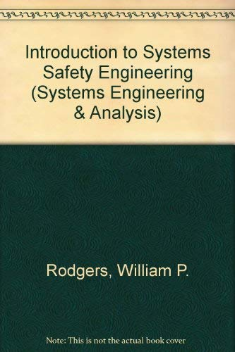 9780471729334: Introduction to Systems Safety Engineering (Systems Engineering & Analysis)