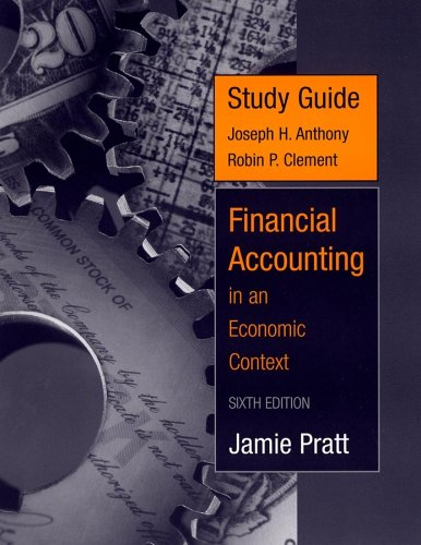9780471731115: Study Guide to accompany Financial Accounting in an Economic Context, 6th Edition