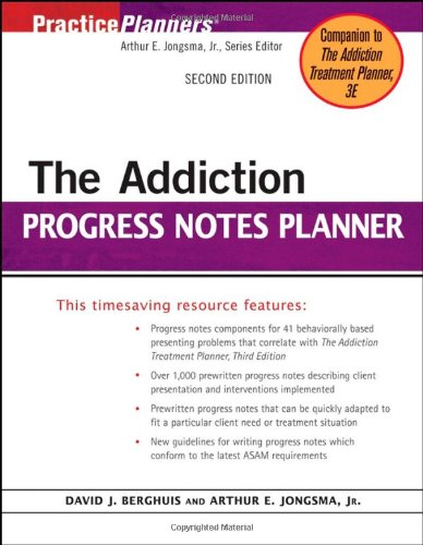 The Addiction Progress Notes Planner
