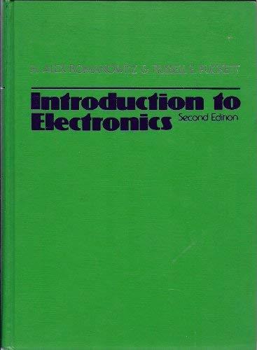 romanowitz alex abebooksintroduction to electronics h alex romanowitz