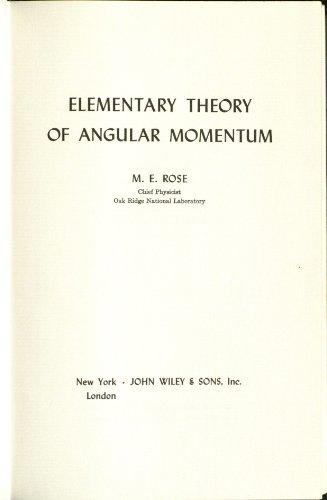 9780471735243: Elementary Theory of Angular Momentum