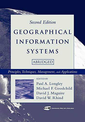 9780471735458: Geographical Information Systems: Principles, Techniques, Management and Applications [With CDROM]