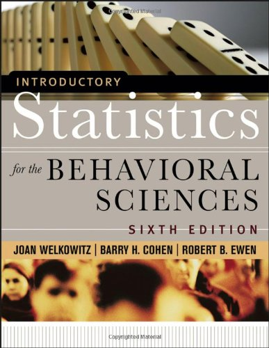 9780471735472: Introductory Statistics for the Behavioral Sciences