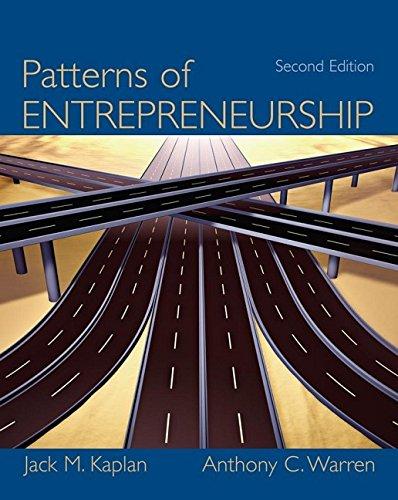 9780471737506: Patterns of Entrepreneurship, 2nd Edition