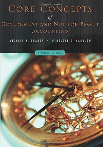 9780471737926: Core Concepts of Government and Not-For-Profit Accounting