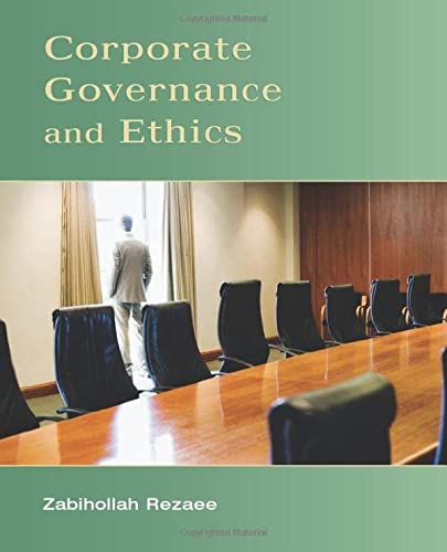 9780471738008: Corporate Governance and Ethics