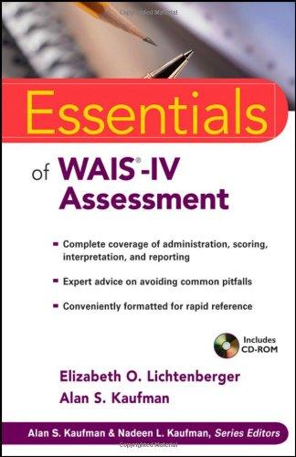 9780471738466: Essentials of WAIS-IV Assessment (Essentials of Psychological Assessment)